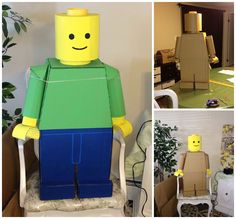 AMAZING CARDBOARD LEGO CREATED BY TEACHER