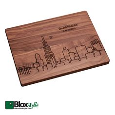 Personalized/ Engraved Cutting Board W/ Chicago Skyline Design,personalized…