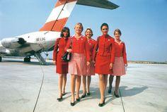 Austrian Airlines uniforms 1974 - 1980
