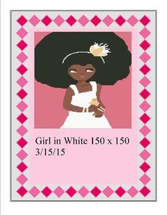 (4) Name: 'Crocheting : Girl in White Dress