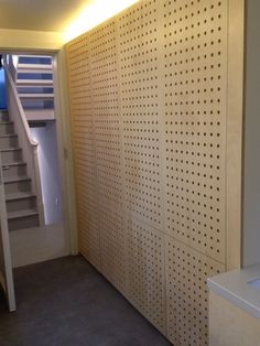 cnc'd lacquered birch plywood doors