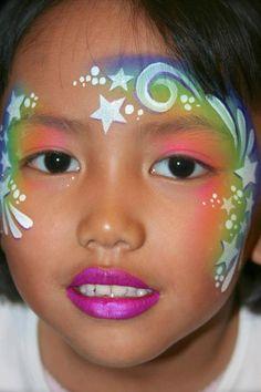 sterrenpracht schmink - Face painting stars crown www.hierishetfeest.com