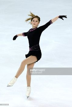 Russia's Julia Lipnitskaia performs in the ladies short program at the Trophee Eric Bompard ISU Grand Prix of Figure Skating in Bordeaux, southwestern France, on November 13, 2015.