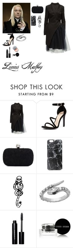 """""""Lucius Malfoy"""" by mrsstylik1999 ❤ liked on Polyvore featuring Lattori, Mollini, Alexander McQueen, Casetify, Blu Bijoux, Bobbi Brown Cosmetics, women's clothing, women, female and woman"""