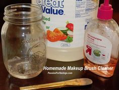 This is AMAZING and works better than MAC Brush Cleaner! Homemade Makeup Brush Cleaner