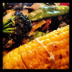 Fresh roasted corn on the cob