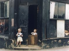 Children Play in Abandoned Corner House - Manchester 1965  By: Shirley Baker