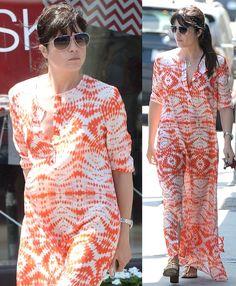 Selma Blair Fashions a Printed Maxi Shirtdress, Hot or Not?