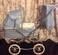 Vintage Cyclops Baby Pram Blue Stroller, circa 1960's