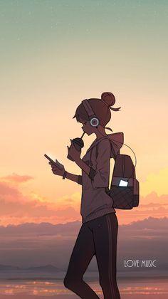 Cool Anime Wallpapers, Anime Scenery Wallpaper, Cute Anime Wallpaper, Anime Artwork, Animes Wallpapers, Cute Cartoon Girl, Cool Anime Girl, Kawaii Anime Girl, Anime Art Girl