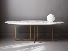 Marble console table COLE by Meridiani