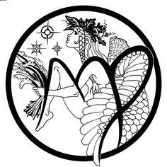 Flower Bud And Virgo Symbol Tattoo On Ear photo - 4
