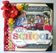 ELITE4U Vintage Old School Premade Paper Bag Mini Album by papercupcake