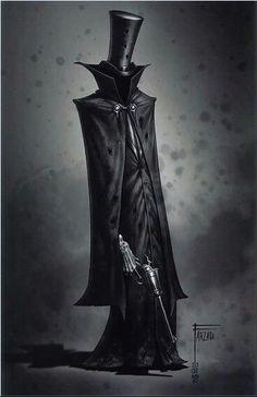A steampunk grim reaper - Hard Tutorial and Ideas Dark Fantasy Art, Dark Art, Fantasy Character Design, Character Design Inspiration, Character Art, Monster Art, Shadow Monster, Steampunk, Vampire