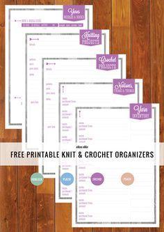 Free Printable Knit & Crochet Organizers - bjl