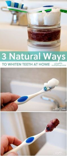 3 natural ways to naturally whiten your teeth. You'll be amazed with the result.