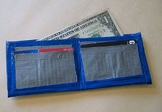 Make Dad a wallet out of duct tape with this #craft #tutorial!  This project is easy enough for kids to make!