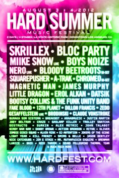 Hard Summer Music Festival 2012 Lineup