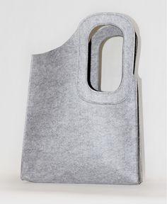 grey felt tote bag on JaneClarbour.com