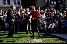 September 17, 1993:  Princess Diana in Luxembourg.