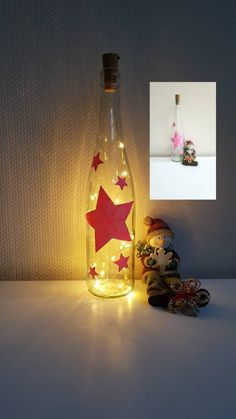 Coloured Fairy Lights, Light Chain, Painted Wine Bottles, Bottle Lights, String Lights, Christmas Lights, Snow Globes, Snowflakes, Pink