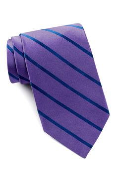 Silk Striped Tie by Isaac Mizrahi on @nordstrom_rack