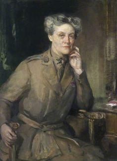 Mrs Chalmers, CBE, Director of QMAAC    Cecile Walton (1891–1956)  and Edward Arthur Walton (1860–1922)    IWM (Imperial War Museums)