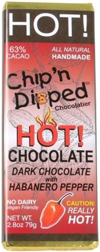 Chip'n Dipped Dark HOT! Chocolate Habanero Bar #vegan $3.29