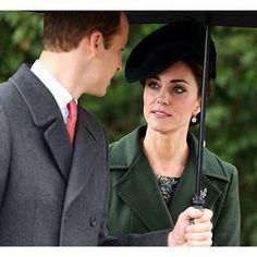 The Duke and Duchess of Cambridge, December 25, 2015