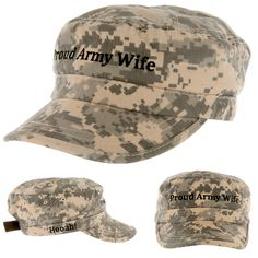Proud Army Wife Military Cap - - - Buying one hat will provide one meal to a Veteran!