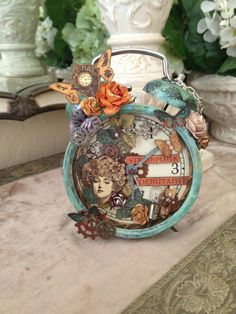 Steampunk Debutante Altered Clock by Char Gibson shared on our Ning site! #graphic45 #ning