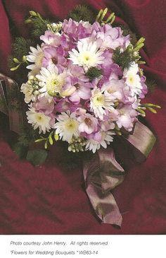 Lavender Wedding Bouquet; Delight in 1000's of wedding flower designs. Centerpieces, church, reception & more. Flower arranging supplies and easy DIY tutorials.