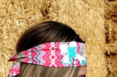 Turquoise Chevron Cross on Pink Tribal Aztec Bandana by RuralHaze, $11.99. Use Code: PINTEREST01 to receive 10% off any order!