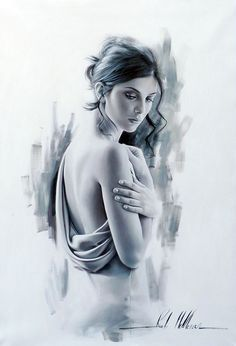 Artist: Rob Hefferan. At a glance Rob Hefferan's latest work could be mistaken for high-fashion photographs of refined taste. His romantic images of a bride posing elegantly in a grand lavish house look so realistic, you'd never guess they were paintings. The painter, 44, from Cheshire, is heavily influenced by grand masters of the Pre-Raphaelite movement. His photorealistic work is astounding both in its realism and the intricate details captured in each frame.