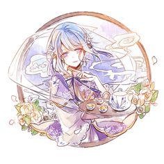 Beauty Illustration, Digital Illustration, Star Character, Character Design, Manga Art, Anime Art, Star Cafe, Vocaloid, Girls With Flowers