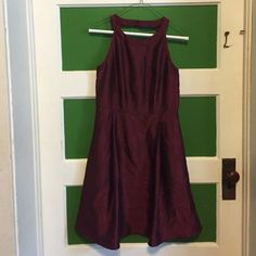 Modcloth Fervour Burgundy Dress Modcloth Stylish Surprise dress! Size small, but is unfortunately too big for me. (Never been worn!) Looks really cute with a belt! ModCloth Dresses Midi