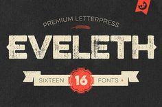 Eveleth - Premium Letterpress Fonts by Yellow Design Studio on @creativemarket