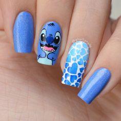 Disney Acrylic Nails, Simple Acrylic Nails, Summer Acrylic Nails, Best Acrylic Nails, Disney Nail Designs, Cute Acrylic Nail Designs, Pretty Nail Art, Cute Nail Art, Nails Now