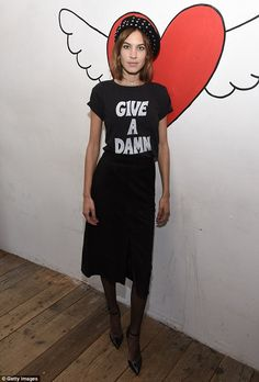 Doesn't give a damn!She's known for her quirky sense of style, and wearing a stylish yet eccentric ensemble, she turned heads as she hosted The Deep End Club Collection launch in New York on Sunday