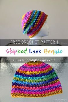 Try out Crochet Skipped Loop Adult Beanie from Knot My Designs. Also get  the free crochet pattern 1477db7c5f