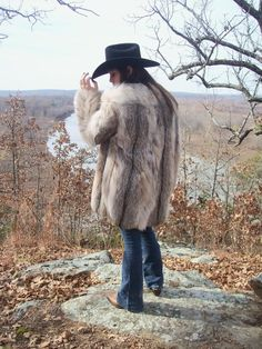 Wolf/Coyote Fur Coat.