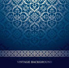 blue European pattern vector background