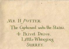 harry potter address, hogwarts acceptance letter