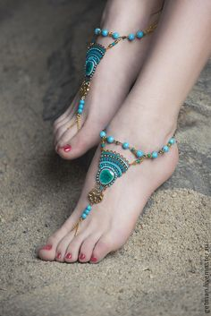 Браслеты на ножки Deniz. Handmade.
