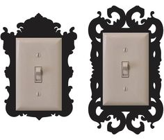 Vinyl light switch frame decal