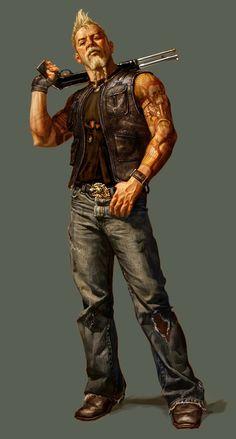 Fantasy Art Males - My list of the most beautiful artworks Post Apocalypse, Apocalypse World, Apocalypse Survivor, Male Character, Character Portraits, Character Concept, Rogue Character, Apocalypse Character, Art Du Monde