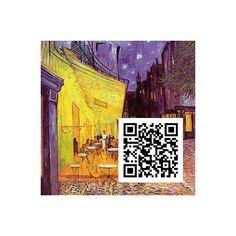 Cafeterrasse am Abend, Vincent Van Gogh, QR-Code, QR-Kunstwerk