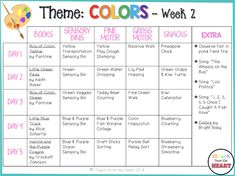 iTeach from the Heart: Tot School: Colors - Week 2 Infant Curriculum, Preschool Curriculum, Preschool Lessons, Homeschooling, Kindergarten, Daycare Lesson Plans, Lesson Plans For Toddlers, Infant Lesson Plans, Daycare Themes