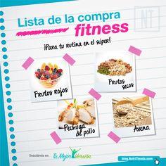 Una buena lista de la compra fitness es vital para conseguir tus objetivos más rápidamente.  ¡Descubre nuestra lista de la compra fitness para seguir la rutina también en el supermercado!
