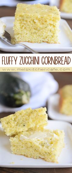 This Fluffy Zucchini Cornbread is some of the softest cornbread to ever grace my kitchen.